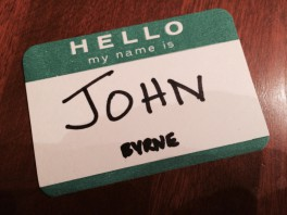 Hello my name is John Byrne